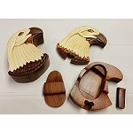 Eagle Head Wooden Puzzle Box
