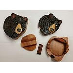 Black Bear Wooden Puzzle Box
