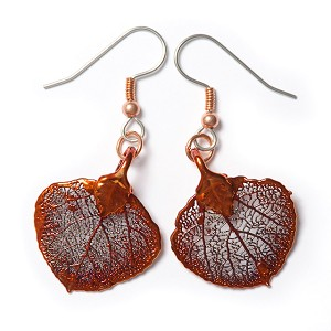 Aspen Leaf Lace Earrings (COPPER)