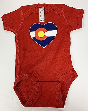 Red Heart Colorado Flag Onesie