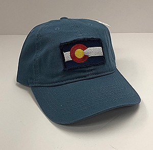 Light Blue Frayed Colorado Flag Hat