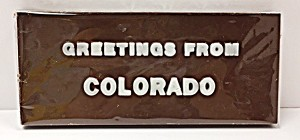 Greetings From Colorado Chocolate Bar