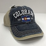 Colorado Flag Frayed Hat