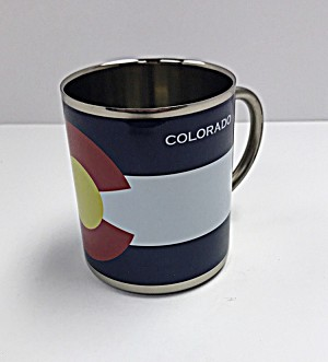 Colorado Flag Stainless Steel Mug