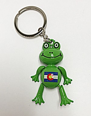 Colorado Flag Frog Keychain