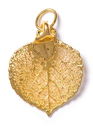 Aspen Leaf Lace Charm (GOLD)