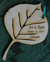 Personalized Wedding Ornament (Minimum order of 25)