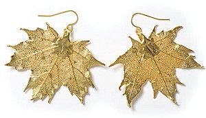 Sugar Maple Lace Leaf Earrings
