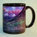 Colorado Maroon Bells Mug (on Black)