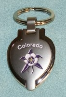 Columbine Locket Keychain