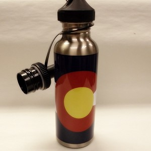 CO Flag Stainless Steel Water Bottle