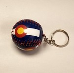 CO Flag Baseball Keychain