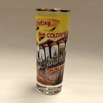 Greetings From Colorful Colorado Shot Glass Tall