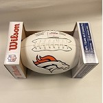 White Denver Broncos Autograph Football