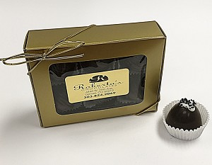 Dark Chocolate Hawaiian Sea Salt 6 Piece Truffles