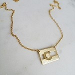 Colorado Flag Necklace Gold