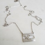 Colorado Flag Necklace Silver