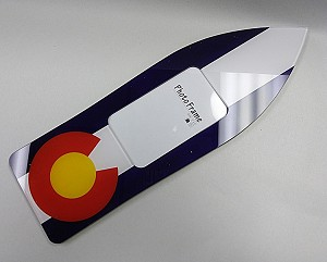 Colorado Flag Ski Photo Frame