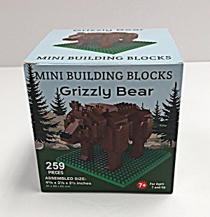 Mini Building Blocks Grizzly Bear