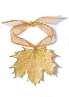 Gold Maple Leaf Ornament