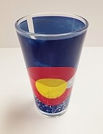 Colorado Flag Mountain Pint Glass