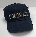 Navy Blue Frayed Colorado Hat