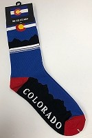 Red, white and Blue Colorado Flag Socks