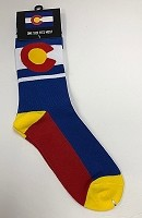Red, White and Yellow Colorado Flag Socks