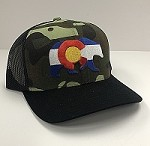 Camouflage Colorado Flag Bear Hat