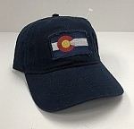 Navy Frayed Colorado Flag Hat