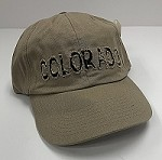 Tan Colorado Frayed Hat