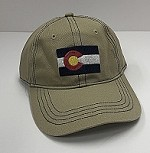 Tan Colorado Flag Ballcap