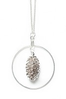 Pine Cone Necklace With Hoop