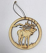 Elk w/ Mountain Ornament