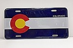 Colorado Flag License Plate